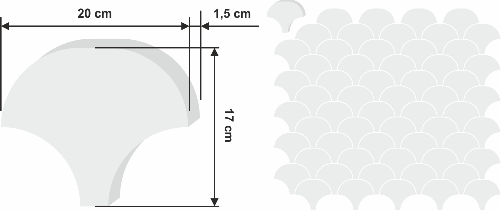 Chakar zementfliese 20x17cm