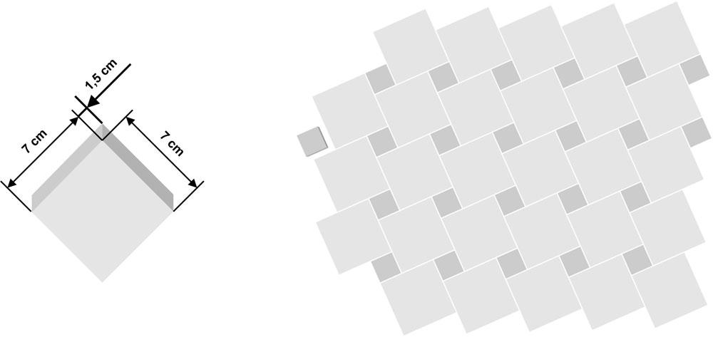 Tessera per azulejo 7x7cm