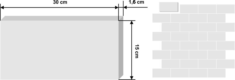 Cementina rettangolare 30x15cm