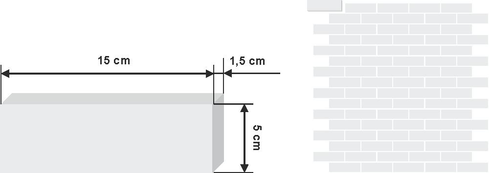 Pieza de zellige bejemat de 5x15cm