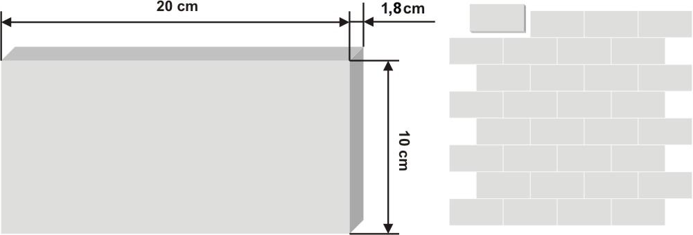 Pieza de zellige Bejemat de 10x20cm