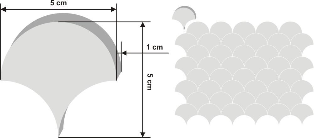 Pieza de zellige Chakar de 10x9cm