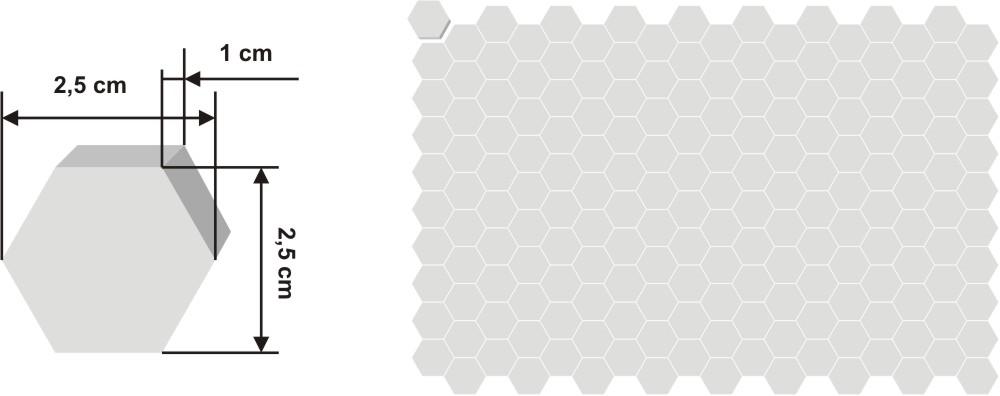 Pieza de zellige Kora de 2,5x2,5cm