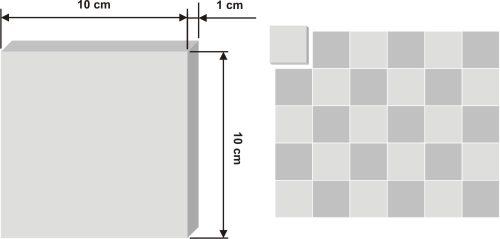 Pieza de zellige Mjeddij de 10x10cm