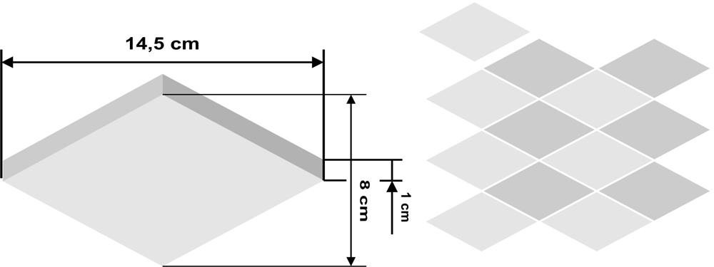Pieza de zellige Nzik 15x8,6cm